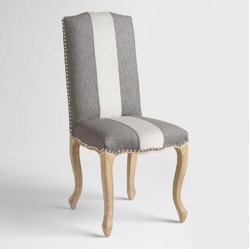 charcoal belmond upholstered dining chairs set of 2 world market