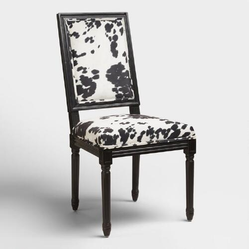 Domino Black Frame Paige Square Back Dining Chairs Set Of