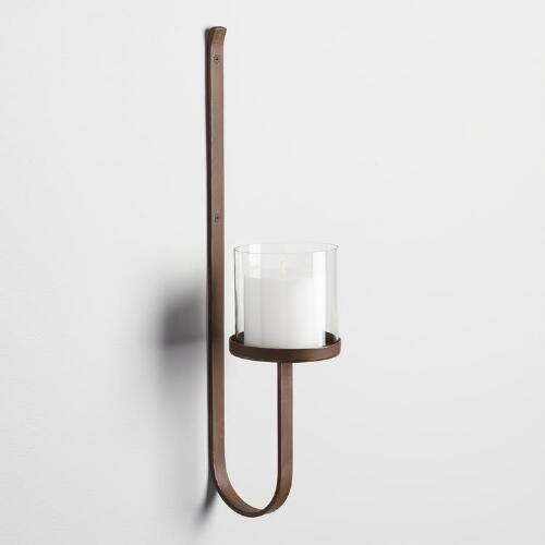 Clear Glass Candle Wall Sconces : Antique Gold Metal Ariel Sconce World Market