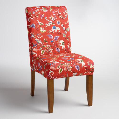 World Market Red Leather Chair: Red Elephant Anna Chair Slipcover