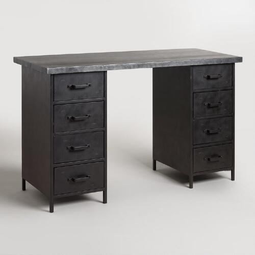 Natural Wood And Craft Height Drawer Colton Mix Match: Metal Top And Craft Height Drawer Colton Mix & Match Desk