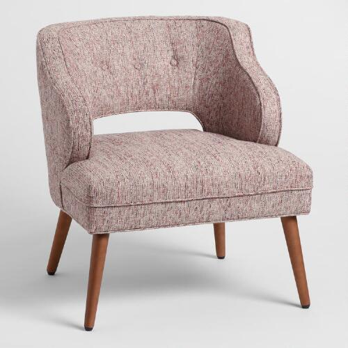 Rose pink tyley chair world market for Modern sitting chairs