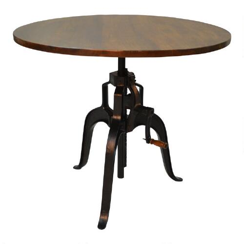 Cheap Adjustable Height Coffee Table: Wood And Metal Carlyle Adjustable Height Dining Table