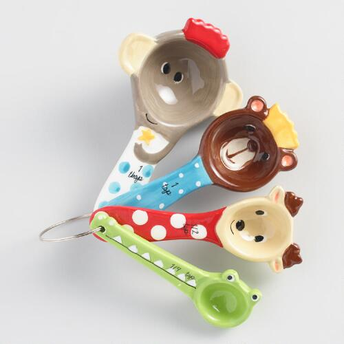 Measuring Spoons Near Me: Holiday Animals Ceramic Measuring Spoons