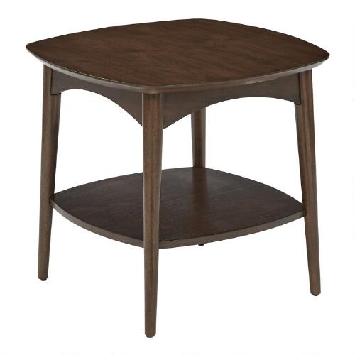World Market Round Coffee Table Mcclanmuse Co: Walnut Brown Wood Brewston Accent Table