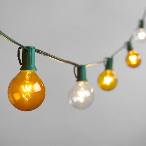 Mimosa-Colored 10 Bulb String Lights World Market