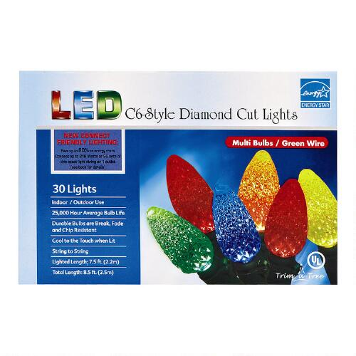 Pearl String Lights Multicolor : Multicolor Diamond-Cut 30-Bulb String Lights Christmas Tree Shops andThat!