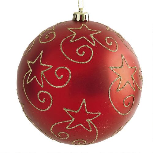 Large Red Christmas Tree Ornaments : Large red star shatterproof ornament christmas tree