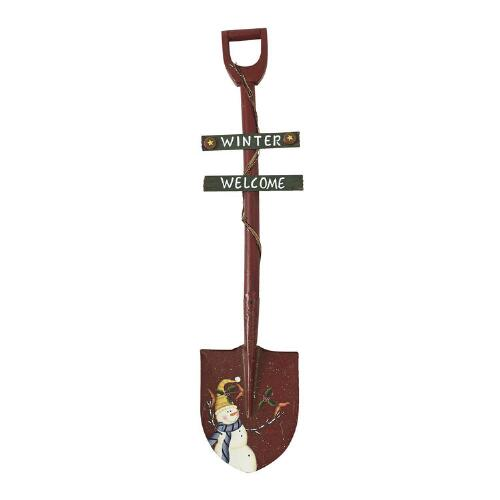 red winter welcome decorative christmas shovel