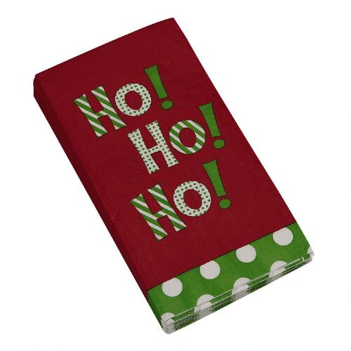 Ho Ho Ho Paper Guest Towels 20 Count Christmas Tree Shops Andthat