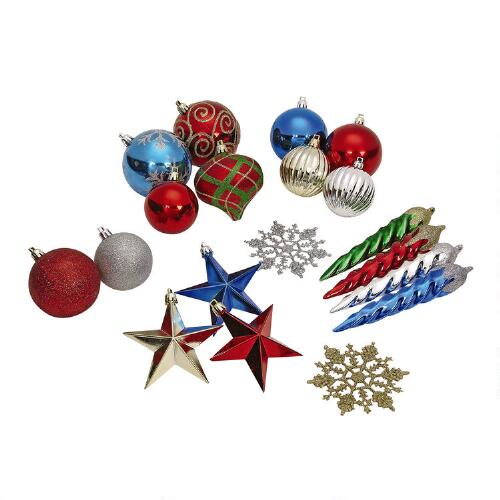 Boston Christmas Tree Delivery: Shatterproof Christmas Ornaments, Set Of 66