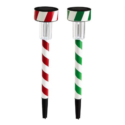 Peppermint Stick Solar Light Stake
