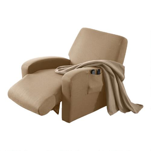 Stretch Recliner Cover With Bonus Throw Christmas Tree