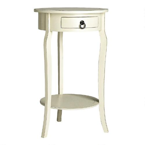 white curved leg round accent table christmas tree shops andthat. Black Bedroom Furniture Sets. Home Design Ideas