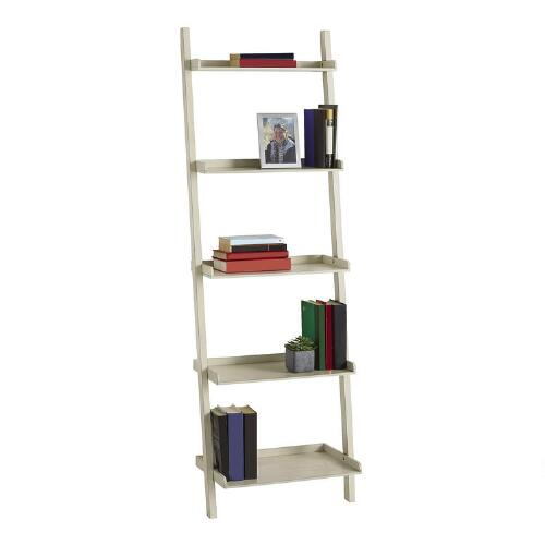 white 5 tier ladder bookcase christmas tree shops andthat. Black Bedroom Furniture Sets. Home Design Ideas