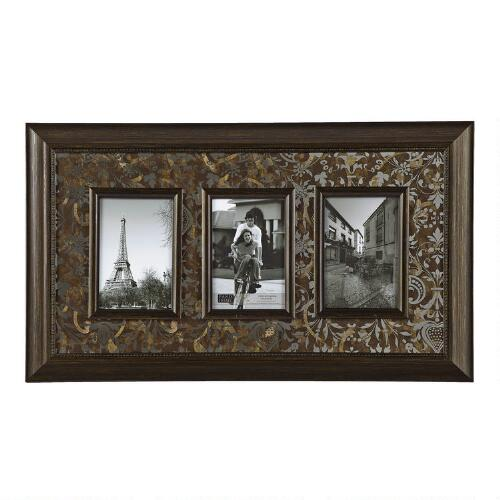 Christmas Tree Shop Picture Frames: 3-Opening Photo Frame With Mirrored Mat