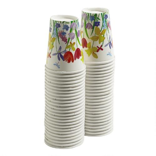 Christmas Tree Made Of Plastic Cups: Happy Flowers Paper Cups, 50-Count