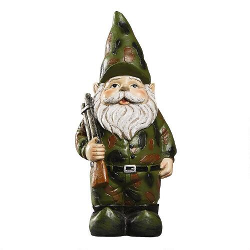 army soldier gnome garden accent