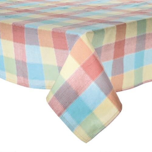 Multi Color Plaid Jacquard Tablecloth Christmas Tree