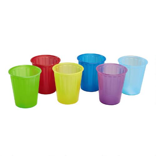 Christmas Tree Made Of Plastic Cups: Colored Plastic Cups, Set Of 6