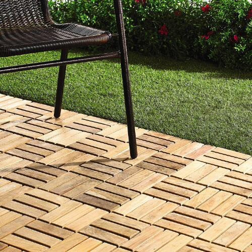 12 X 12 Teak Patio Flooring Tiles 10 Pack Christmas