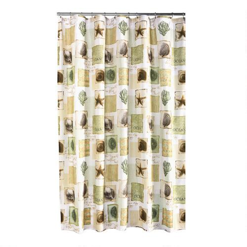 Sea Life Fabric Shower Curtain Christmas Tree Shops Andthat