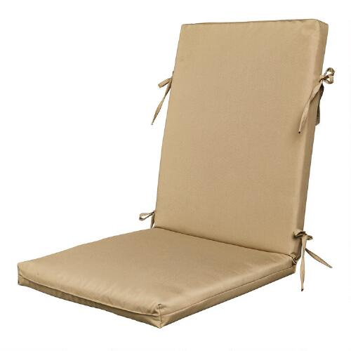 Solid color hinged indoor outdoor chair cushion christmas tree shops andthat - Hinged outdoor cushions ...