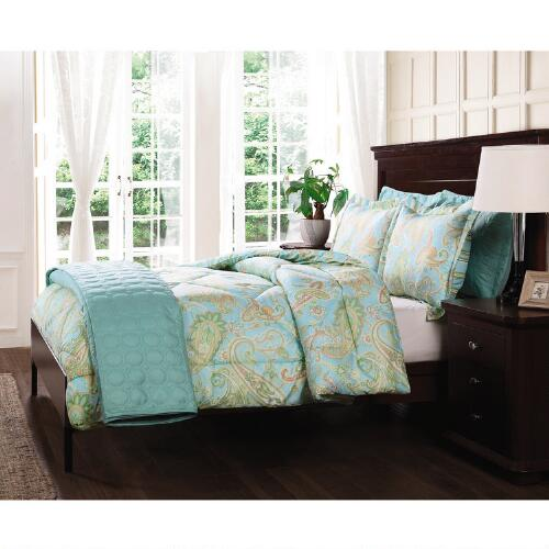 paisley comforter  u0026 quilt bed set with shams