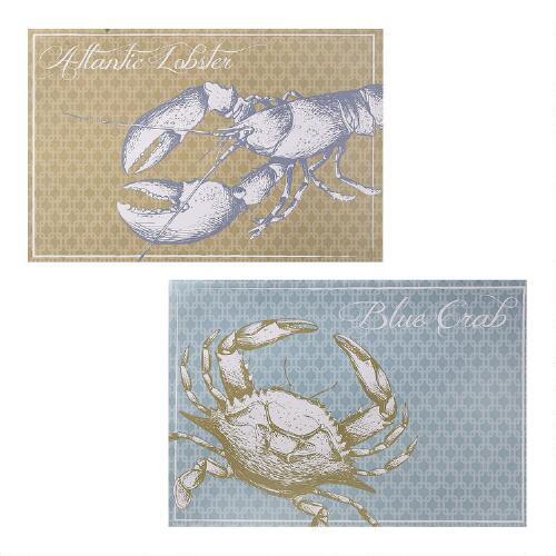 Christmas Tree Shop Connecticut: Lobster And Crab 48-Ct. Paper Placemats, 2-Pack