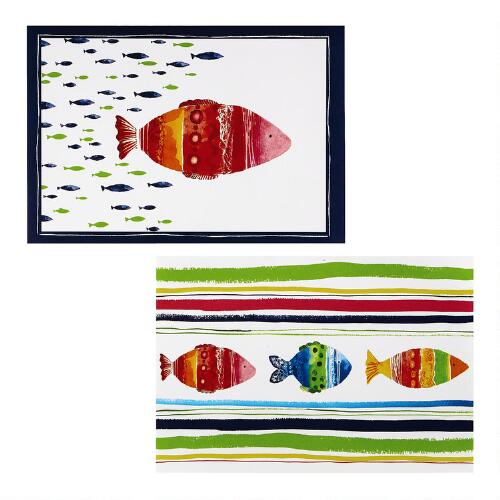 Christmas Tree Shop Connecticut: Colorful Fish 48-Ct. Paper Placemats, 2-Pack