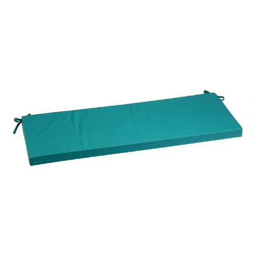 Turquoise indoor outdoor bench cushion christmas tree shops andthat - Indoor bench cushions clearance ...