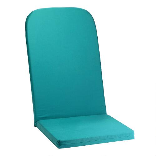 Turquoise indoor outdoor adirondack chair cushion christmas tree shops andthat - Indoor bench cushions clearance ...