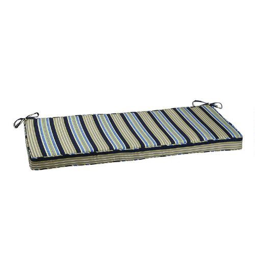 Waverly striped indoor outdoor bench cushion christmas tree shops andthat - Indoor bench cushions clearance ...