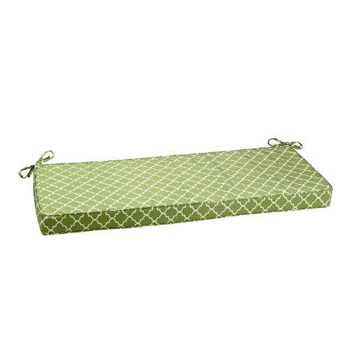 Waverly trellis indoor outdoor bench cushion christmas tree shops andthat - Indoor bench cushions clearance ...