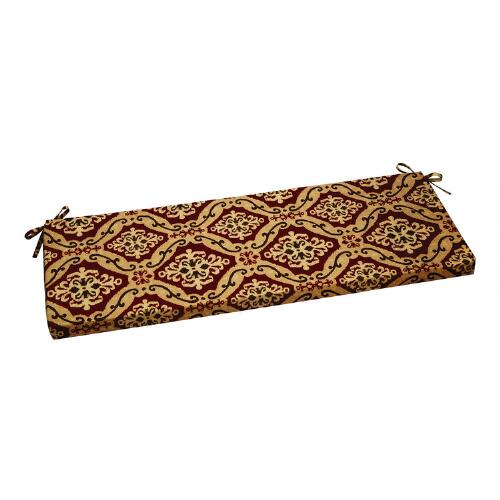 Spiced ikat indoor outdoor bench cushion christmas tree shops andthat - Indoor bench cushions clearance ...
