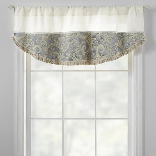 Scroll pattern half round window valance christmas tree for Window scroll