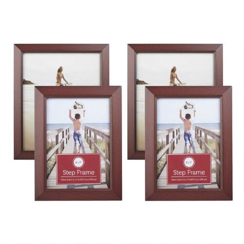 Christmas Tree Shop Picture Frames: Walnut Photo Frames, Set Of 2