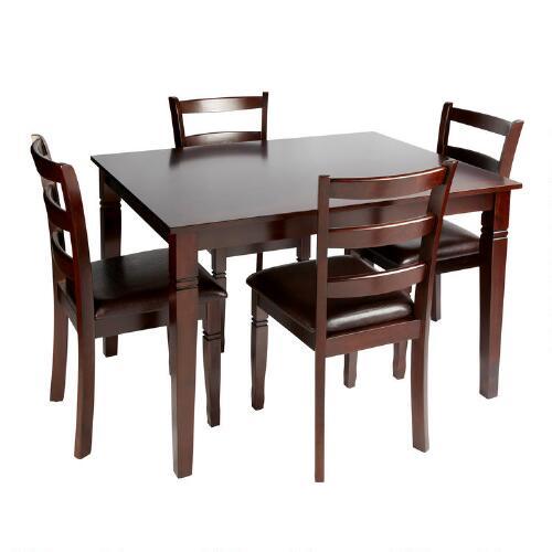 Espresso Dining Table and Chairs 5 Piece Set Christmas  : 4102106XXXv1 from www.christmastreeshops.com size 500 x 500 jpeg 30kB