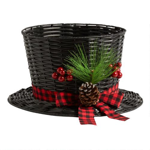 Top Hat Basket With Pinecone Christmas Tree Shops Andthat
