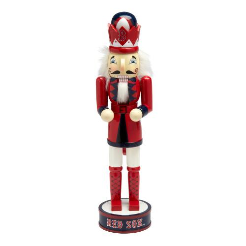 "Boston Christmas Tree Delivery: 14"" MLB Boston Red Sox™ Collectible Wood Nutcracker"