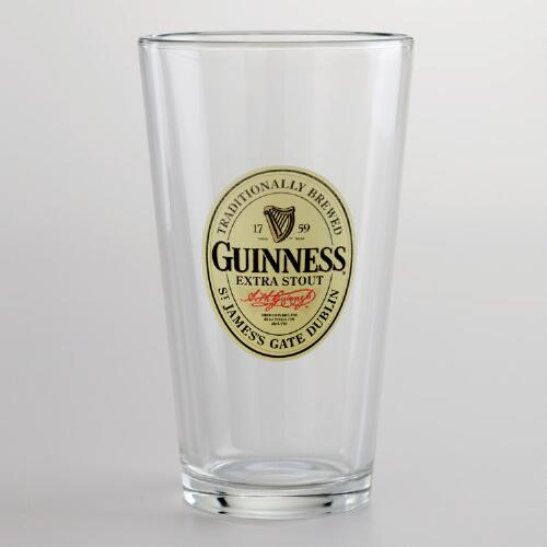 Guinness Stout Pint Glasses, Set of 4