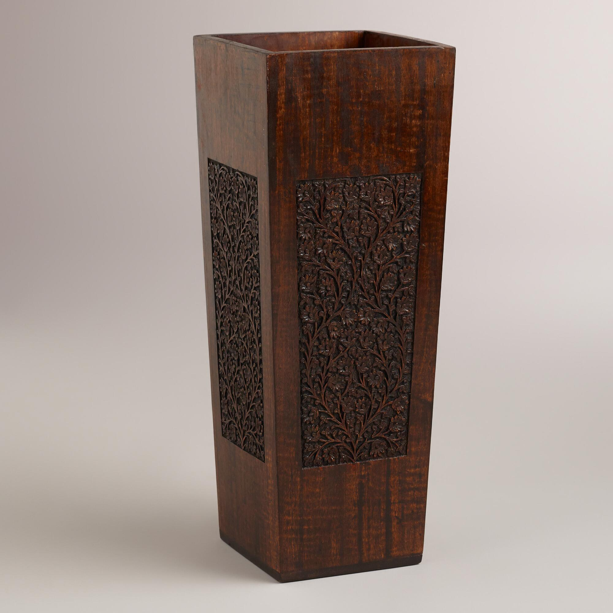 Veda wood umbrella stand world market