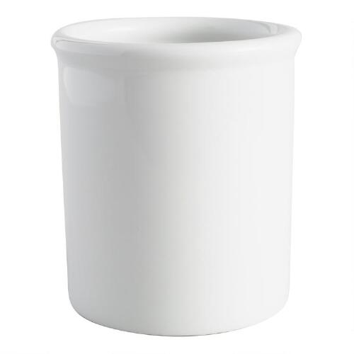 White Porcelain Utensil Holder