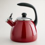 Garnet Enamel-on-Steel Tea Kettle