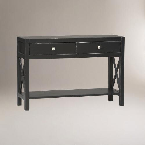 Antiqued Black Easton Console Table