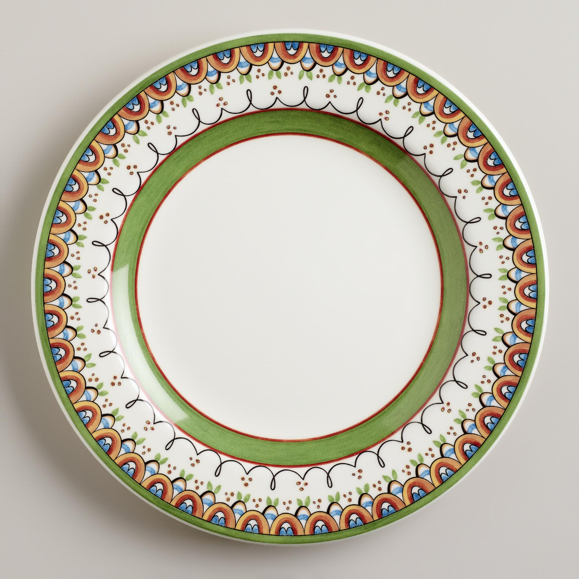 Passaro dinner plates set of world market