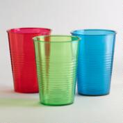 Acrylic Ribbed Tumblers, Sets of 6