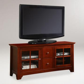 Walnut Brown Becket Media Stand
