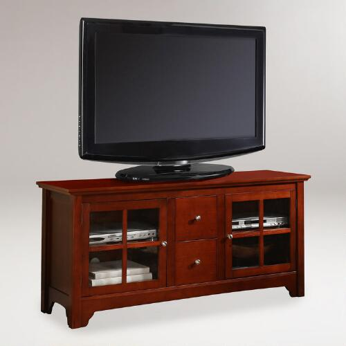 Walnut Brown Wood Becket Media Stand