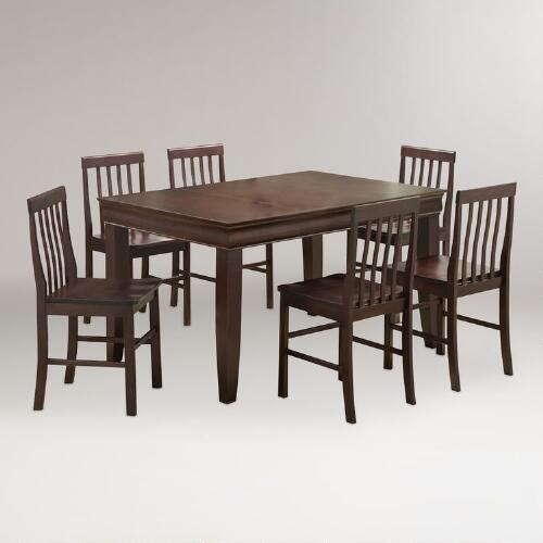 Espresso Preston 7-pc Dining Set